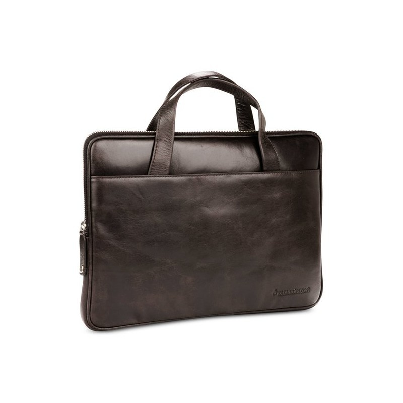 "dbramante1928 Silkeborg leren tas 13"" Dark brown"