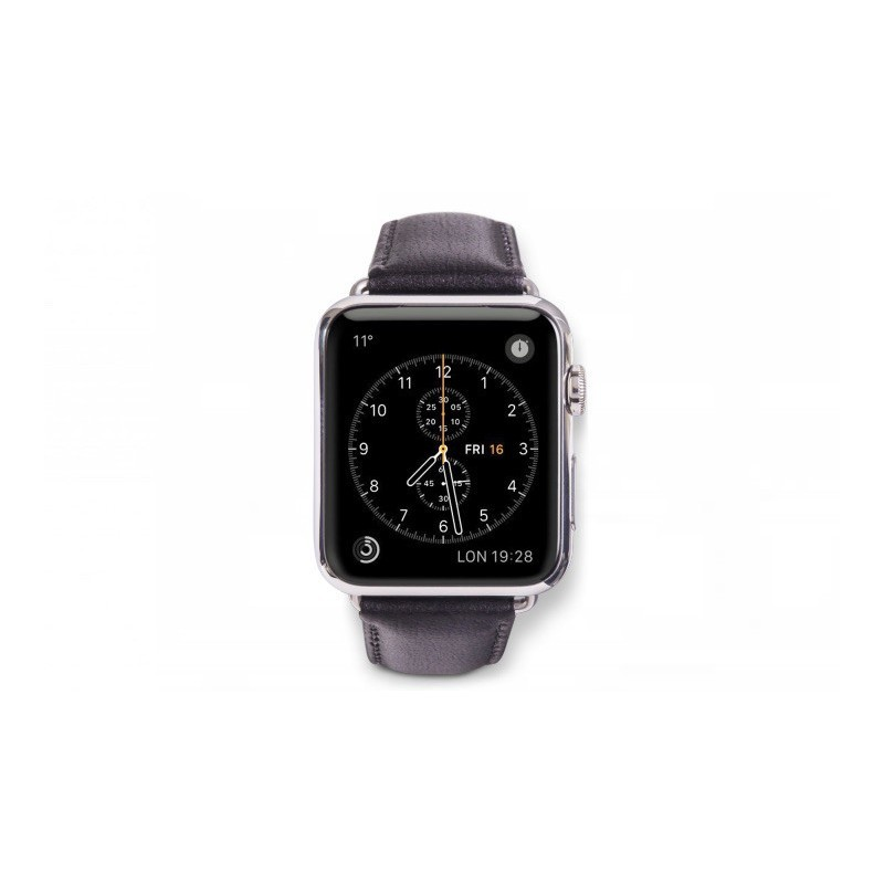 dbramante1928 Copenhagen Apple Watch bandje 42/44 mm grijs/zwart