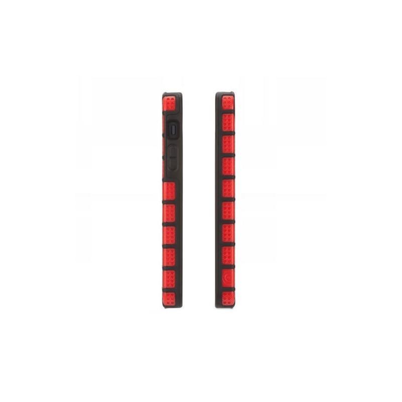 Griffin MeshUps iPhone 5(S)/SE rood/zwart