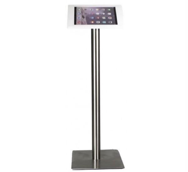 Tablet vloerstandaard Fino iPad Pro 12,9 wit RVS