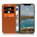 Casecentive Leren Wallet case Luxe iPhone 11 Pro Max tan
