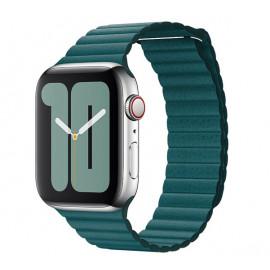 Apple Loop - Cinturino a maglie in pelle per Apple Watch - 42mm / 44mm - Peacock
