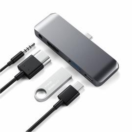 Satechi Aluminum Type-C Mobile Pro Hub grijs