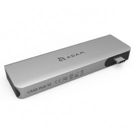 ADAM elements CASA Hub 5E USB-C 3.1 5 port Card Reader grijs