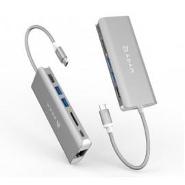 ADAM elements CASA Hub A01 USB-C 3.1 6 port grijs