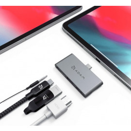 ADAM elements CASA Hub i4 USB-C 3.1 4 port iPad Pro grijs
