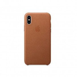 Apple leather case iPhone X / XS Saddle Brown