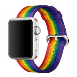 Apple Woven Nylon - CInturino per Apple Watch 38mm / 40mm - Edizione Pride