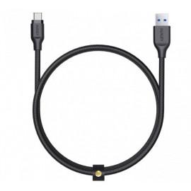 Aukey Braided kabel USB-A naar USB-C 1.2m zwart