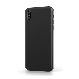 BeHello iPhone Xs Max Liquid Silicone Case zwart