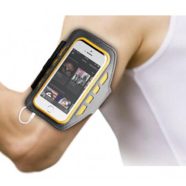 BeHello Universal LED Sportsarmband XL Grey/Yellow