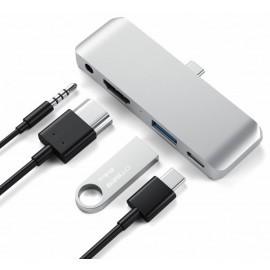Satechi - Adattatore Multiporta Pro in Alluminio - USB-C  - Grigio