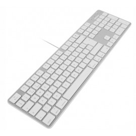 Macally Slim USB Toetsenbord FR wit/aluminium