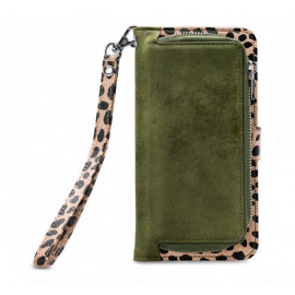 Mobilize 2in1 Gelly Wallet Zipper Case iPhone XR olijf/leopard