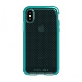Tech21 Evo Check iPhone X / XS transparant / groen