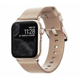 Nomad Modern slim leather strap Apple Watch 38 / 40 mm goud