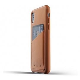 Mujjo Leather Wallet Case iPhone XR bruin