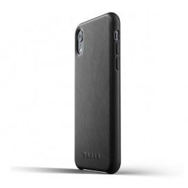 Mujjo Leather Case iPhone XR zwart