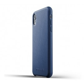 Mujjo Leather Case iPhone XR blauw