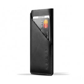 Mujjo wallet leren sleeve iPhone X / XS zwart