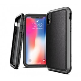 X-Doria Defense Lux Leather cover iPhone XR zwart
