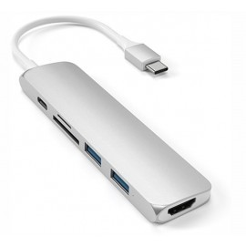 Satechi - Adattatore Multiporta V2 - USB-C - Argento