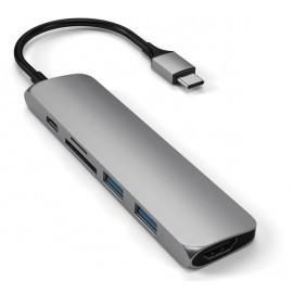 Satechi - Adattatore Multiporta V2 - USB-C - Grigio scuro