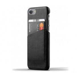 Mujjo wallet leren case iPhone 7 / 8 / SE 2020 zwart