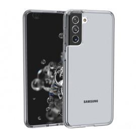 Casecentive Shockproof case Samsung Galaxy S21 black transparant