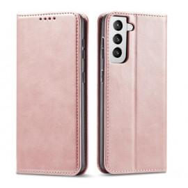 Casecentive Leren Wallet Luxe - Cover Samsung Galaxy S21 Plus - Rosa