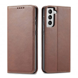Casecentive Leren Wallet Luxe - Cover Samsung Galaxy S21 Plus - Marrone