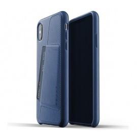 Mujjo Leather Wallet Case iPhone X / XS blauw