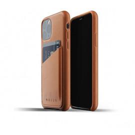 Mujjo Leather Wallet Case iPhone 11 Pro bruin