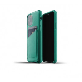 Mujjo Leather Wallet Case iPhone 11 Pro groen