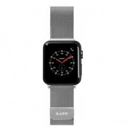 LAUT Steel Loop Apple Watch 38 / 40 mm zilver