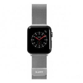LAUT Steel Loop Apple Watch 42 / 44 mm zilver