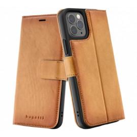 Bugatti Zurigo Wallet case iPhone 12 / iPhone 12 Pro bruin