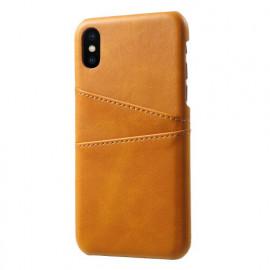 Casecentive Leren Wallet - Cover per iPhone X / XS - Marrone chiaro