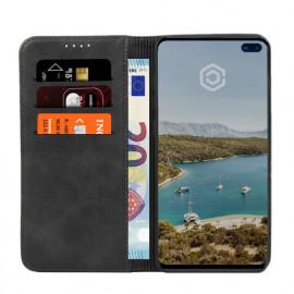 Casecentive Leren Wallet - Cover per Galaxy S10 Plus - Nera