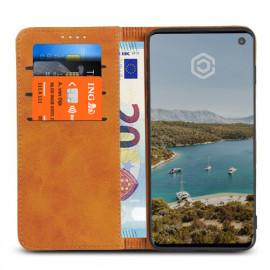 Casecentive Leren Wallet case Samsung Galaxy S10 tan