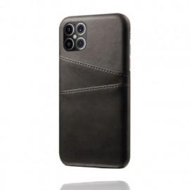Casecentive Leren Wallet back case iPhone 12 Pro Max Black