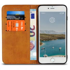 Casecentive Leren Wallet - Cover iPhone 7 / 8 / SE 2020 - Marrone chiaro