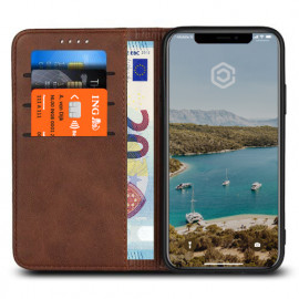 Casecentive Leren Wallet case iPhone XR bruin