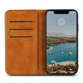 Casecentive Leren Wallet - Cover iPhone XR - Marrone chiaro
