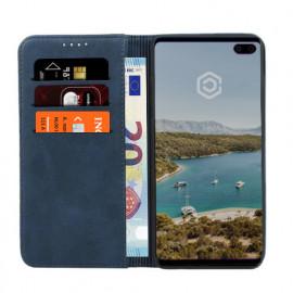 Casecentive Leren Wallet Case Samsung Galaxy S10 Plus blauw