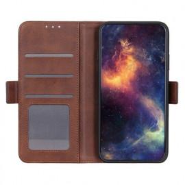 Casecentive Magnetische Leren Wallet case Galaxy S20 bruin