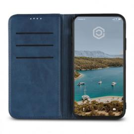 Casecentive Leren Wallet - Cover iPhone XR - Blu