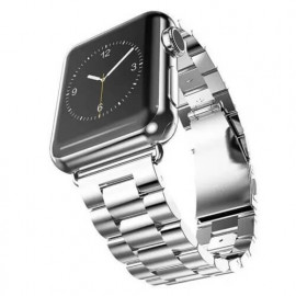 Casecentive Stainless Steel Watch Strap Apple Watch 38 / 40 mm zilver