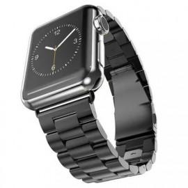 Casecentive - Cinturino in Acciaio per Apple Watch 42 / 44 mm - Nero