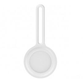 Casecentive volledig siliconen sleutelhanger AirTag case wit